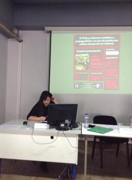 Patricia Calvo no Coloquio sobre Violencia Política en Lisboa